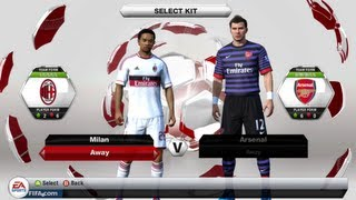 FIFA 13 Demo Gameplay : AC Milan v Arsenal - Live Commentary (Review)