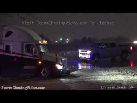 Wichita, KS Snowy Weather And Semi Truck Crash - 2/19/2020