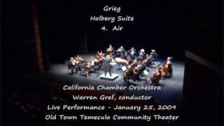 Grieg Holberg Suite part 2 - California Chamber Orchestra