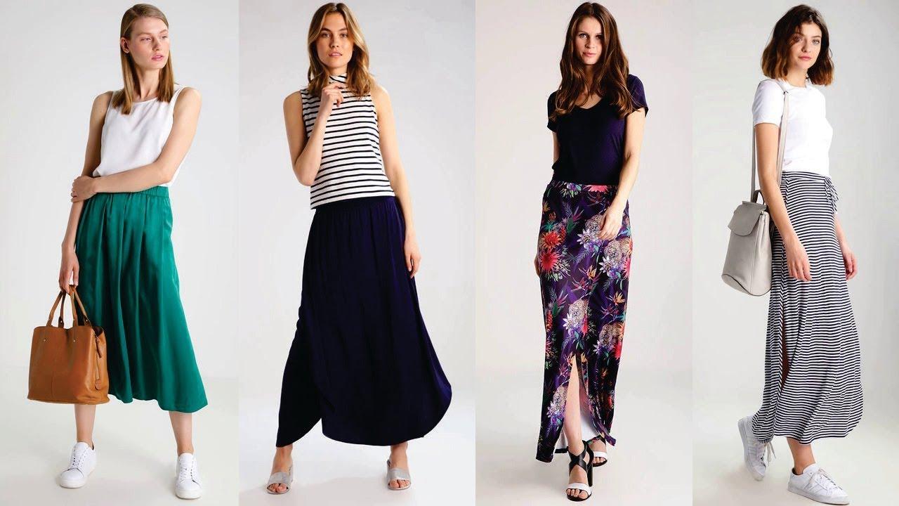 cf2ce8d697 Como combinar faldas largas y blusas - YouTube