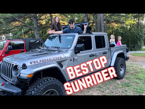 Bestop Sunrider Install & Review On Our Jeep Gladiator