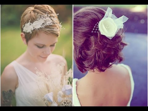 50 idees coiffure mariage sur cheveux courts