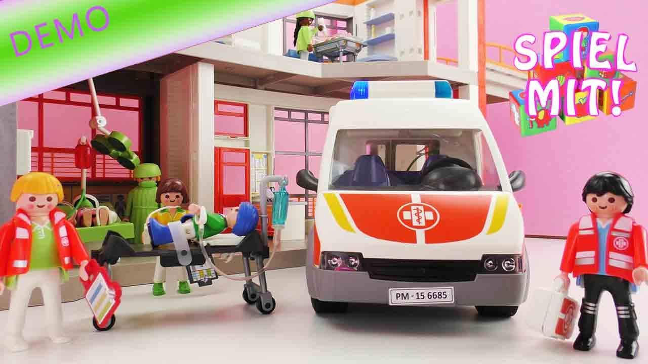 playmobil rettungswagen patient wird im krankenwagen zur. Black Bedroom Furniture Sets. Home Design Ideas