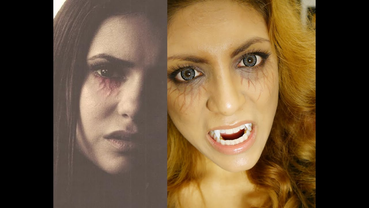 The Vampire Diaries inspired makeup. Scary! - YouTube