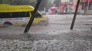 თბილისში წვიმამ პრობლემები შექმნა