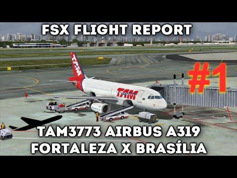 TAM3773 A319 - Fortaleza (SBFZ) x Brasília (SBBR) / [FSX]