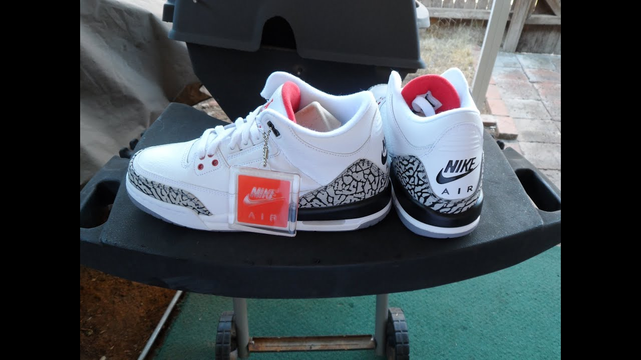 2013 Air Jordan 3 Ciment Blanc 88 Rétro 11