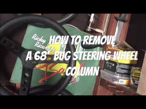 How to remove steering column 68 Vw bug