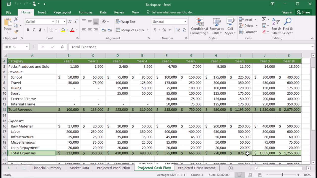 415 How To Create A Clustered Column Chart In Excel 2016 Youtube