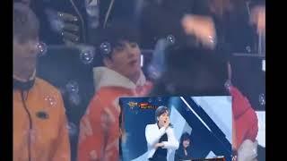 Fancam BTS Jungkook Jimin J hope reaction to Winner 'Really Really'
