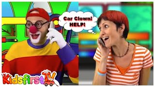 Toy Cars Clown - HELP! (Masha & The Clown) TOW TRUCK Rescue & Repair Garage!
