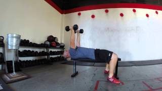 Tricep Extensions: Rolling Dumbbells