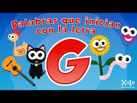 Words that start with the letter G in Spanish for children