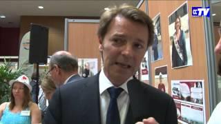 François Baroin à la Foire, son message aux Chalonnais pour CCTV Châlons #FOIRE2015