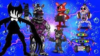 В Фнаф Ворлд Рокстар Аниматроники и супер Битвы Новый Мод для Fnaf World Новые герои Rockstar Fоxy