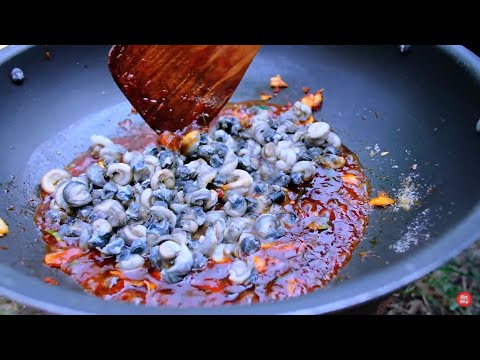 ผัดหอยขม หอยจูป สูตรยายเตี้ยพาแซ่บ ทั้งหอมทั้งแซ่บกินกับข้าวร้อนๆ - [15/01/2020]