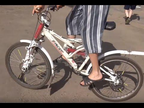 Самодельная вилка на велосипед с амортизатором