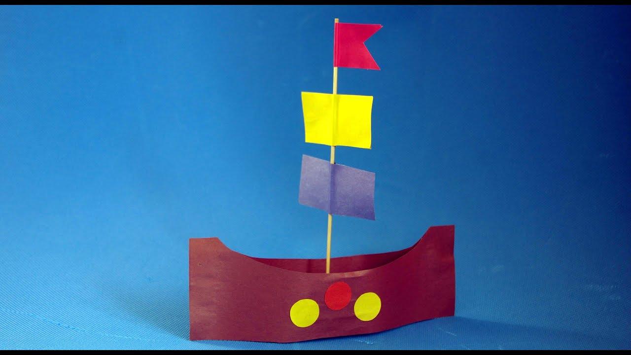 Поделки своими руками. Игрушка кораблик. Как сделать ...