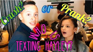 Who is Texting Hayley LeBlanc? Crush or Prank? Part 1
