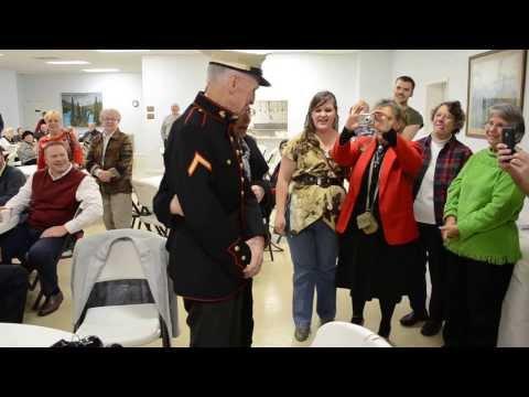 WWII Hero Receives Dress Blues