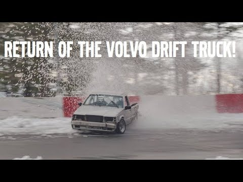 RETURN OF THE VOLVO DRIFT TRUCK + MISS HUFF TANDEMS WITH A 350Z!