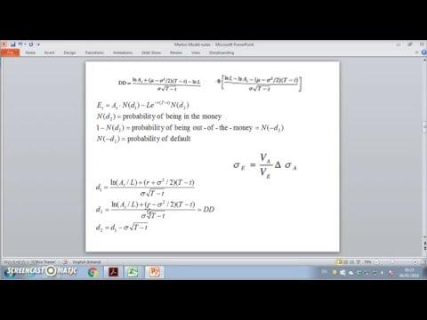 Numerical Example Of Merton KMV 3