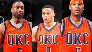 Dwyane Wade Joining Thunder & Russell Westbrook, Carmelo, & Paul George after Carmelo Anthony Trade
