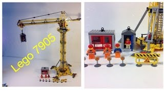 LEGO CITY 7905 Building Crane - Tower Crane from 2006! Porta-potty!(LEGO CITY 7905 Building Crane - Tower Crane from 2006! With Porta-potty! 721 pieces and 3 minifigures. 26 inches tall and 26 inches wide! Great for building ..., 2014-08-14T15:46:56.000Z)