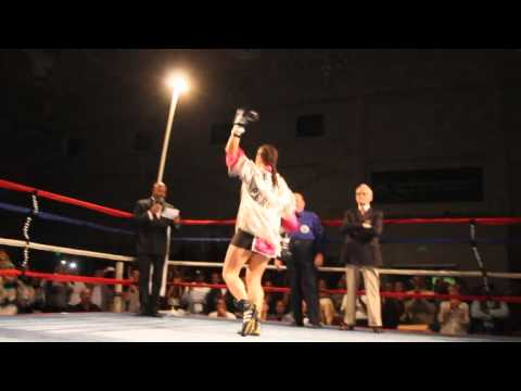 Teresa Perozzi Defends WBA Title Bermuda March 10 2012