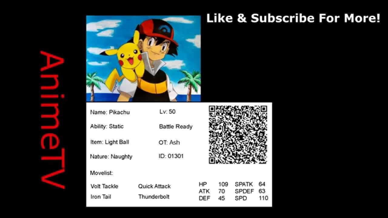 Qr Code Ash S Pikachu Event Pokemon Pokemon X Y Oras Youtube