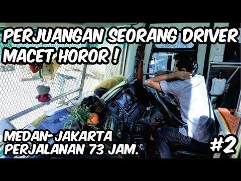 PERJUANGAN KERAS SEORANG DRIVER || MACET HOROR || Naik bus Sempati Star Medan - Jakarta part2.