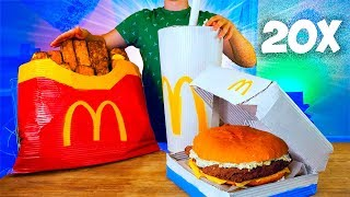 Download УВЕЛИЧИЛИ МЕНЮ McDonald's в 20 раз / ОГРОМНАЯ КАРТОШКА ФРИ / ГИГАНТСКИЙ ФИЛЕ-О-ФИШ/  КОКА-КОЛА / Mp3 and Videos