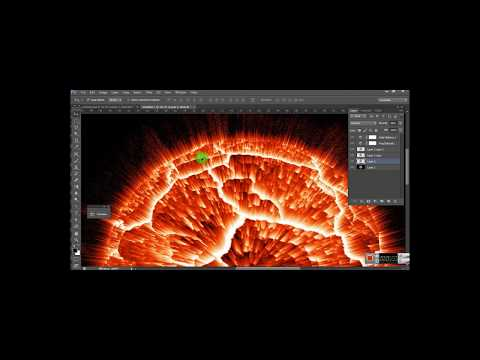 PLANET EXPLODE effect in Photoshop-Tutorial