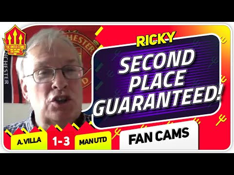 RICKY! MAGUIRE WILL BE A BIG MISS! Aston Villa 1-3 Manchester United Fan Cam