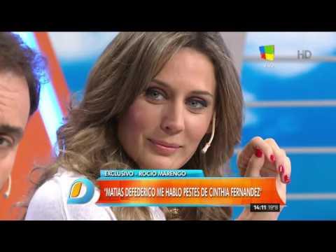 Rocío Marengo incendió a Matías Defederico: Me llamó y hasta lo llevé a mi casa