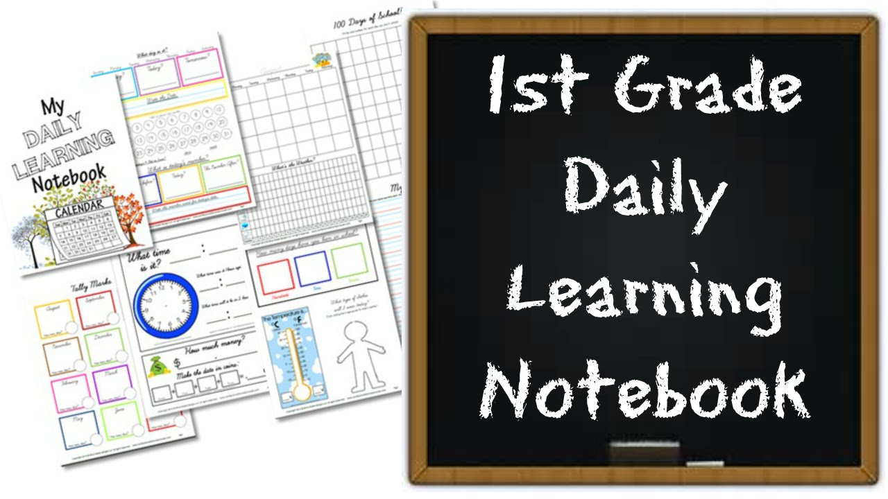 1st Grade Daily Learning Notebook: Calendar   Time   Math   Counting -  YouTube [ 720 x 1280 Pixel ]