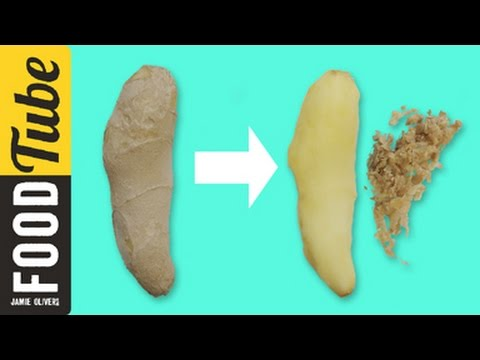 How to Peel Ginger   Jamie's 1 Minute Tips