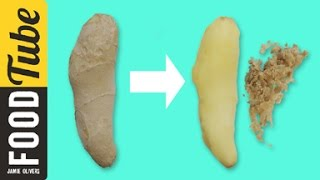 How to Peel Giฑger   Jamie's 1 Minute Tips