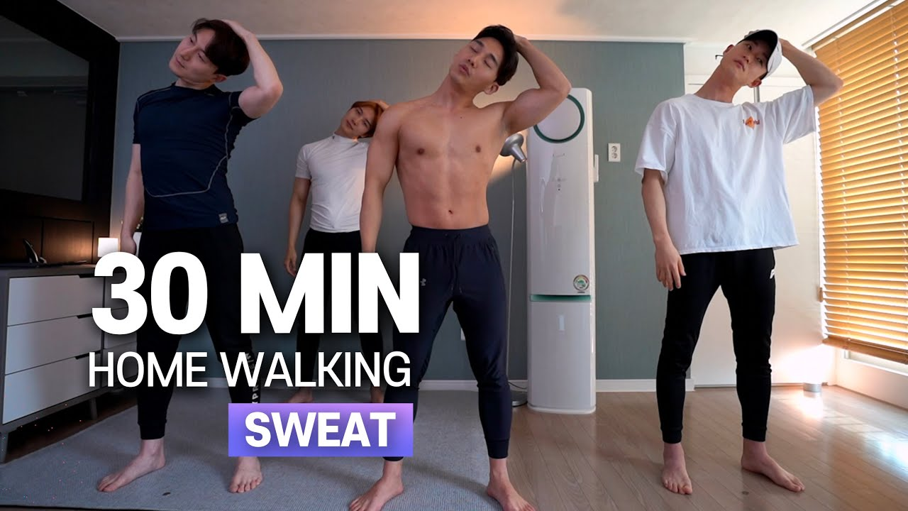 e.6 30분 걷기 홈트 (땀범벅💦!!) | 30min HOME WALKING (SWEAT💦!!) for ALL AGES