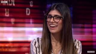 مقابلة مع الممثلة الاباحية ميا خليفة على قناة ال BBC