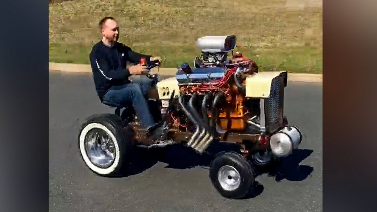Gasser V8 Garden Street Tractor Youtube