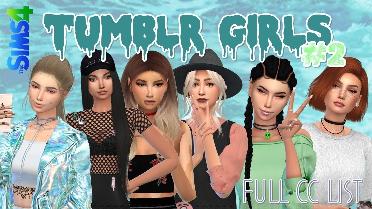 The Sims 4 - Pack Roupas Tumblr #2 // Tumblr Clothes Full CC List + Download