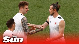 Wales train ahead of Euro 2020 clash with Italy