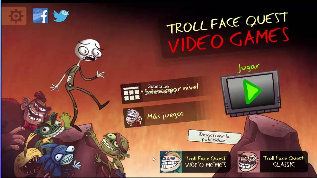 Troll Face Quest Video Games walkthrough Level 1, 2, 3, 4 ...