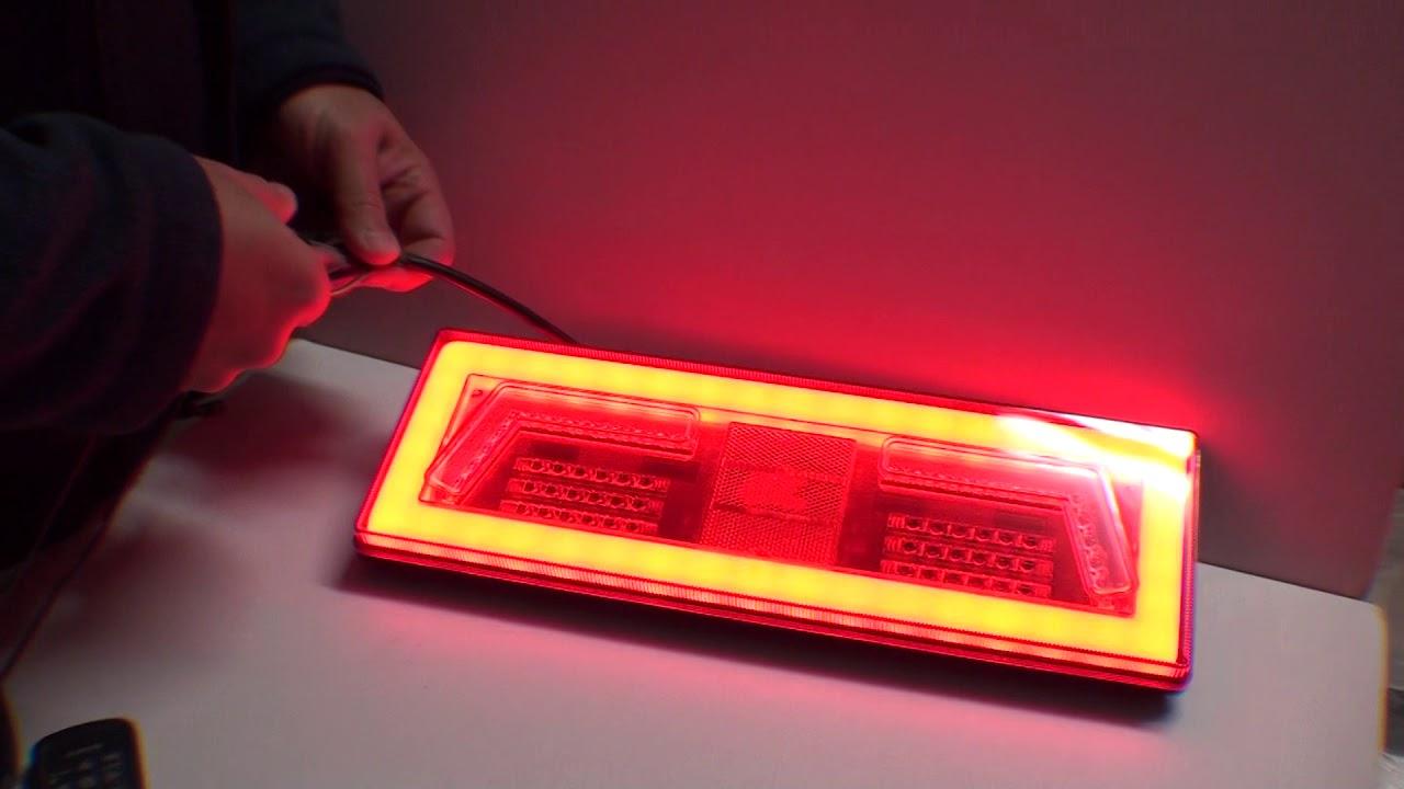 Lampy Tylne Led Diodowe Neon Look Laweta Przyczepa L1828 L1829