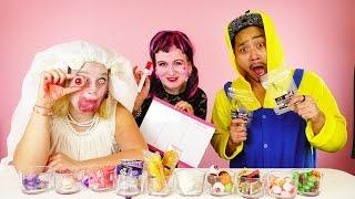 HALLOWEEN CANDY CHALLENGE mit Zombie Braut, Draculaura und Minion | Halloween Special