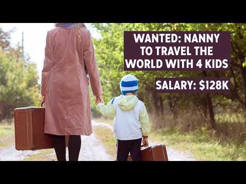 Nanny job site listing offers $128K, world travel