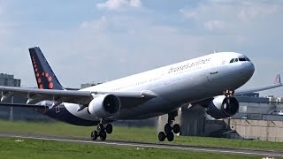 Brussels Airlines - Airbus A330-300 - 2 different takeoffs at Brussels Airport