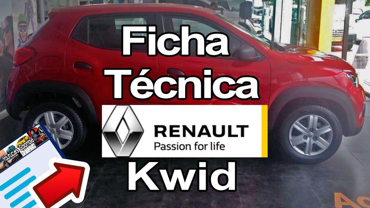 ficha tecnica  caracteristicas renault kwid  youtucars colombia youtube