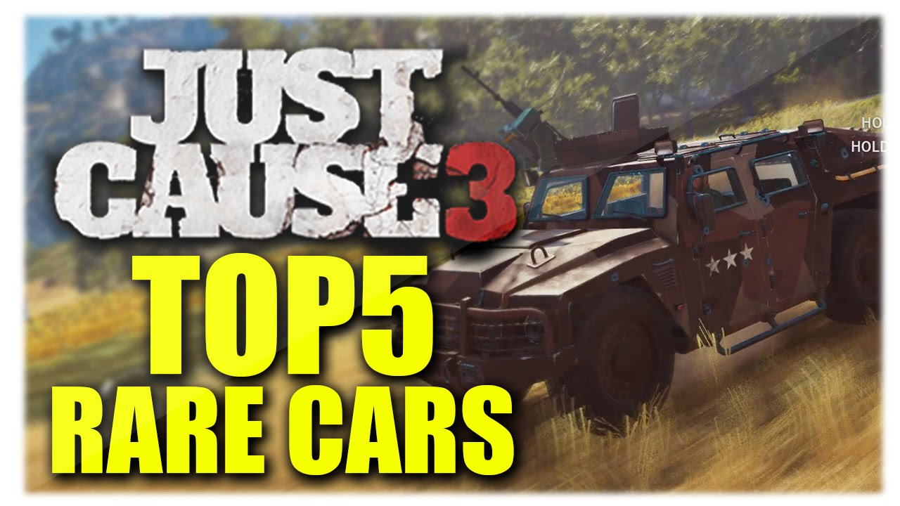 Just Cause 3 | Top 5 RARE CARS Location! New Secret Rare Vehicles ...